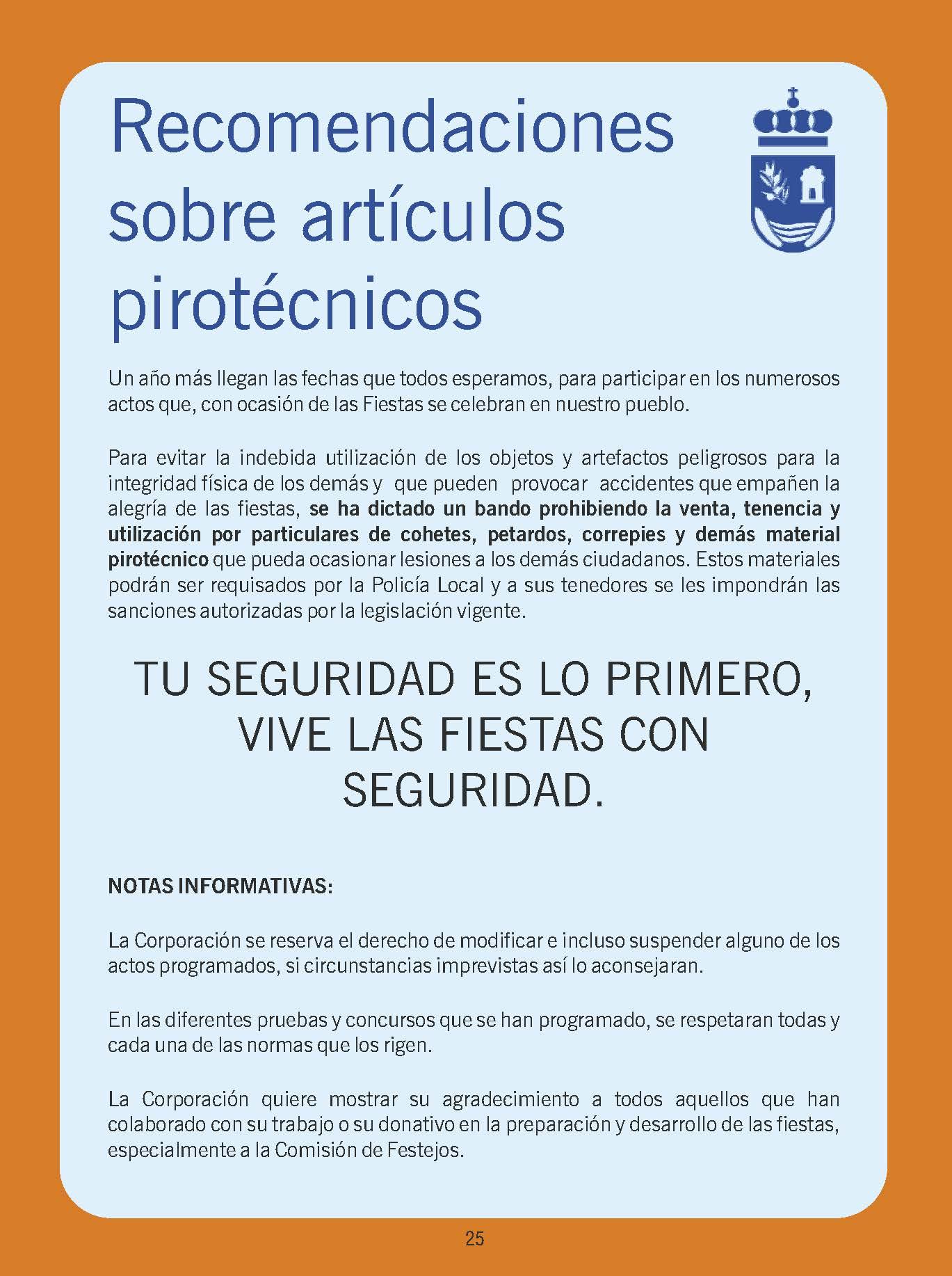 Programa Fiestas Patronales 2018 del 1 al 12 de Septiembre